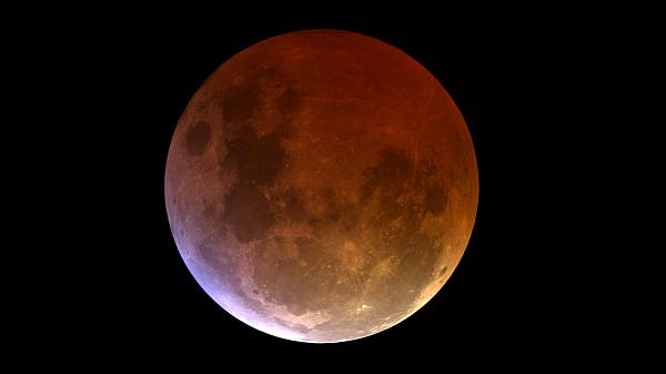 Fully eclipsed Blood Moon.