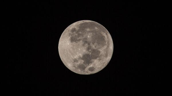 Close-up image of the Full Moon.