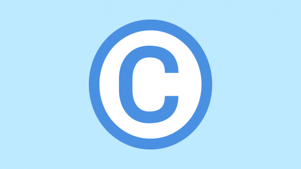 Illustration of copyright using a copyright symbol