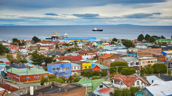 City view of Punta Arenas in Chile.