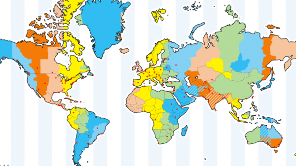 World Time Zone Map How Many Time Zones in the World?