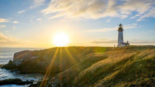 Yaquina Head Lighthouse is the tallest lighthouse in Oregon.