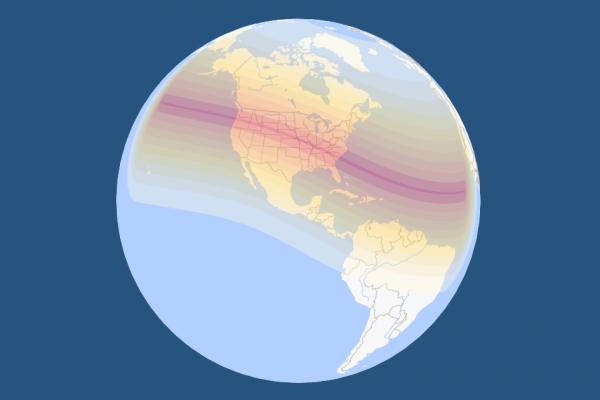 3d Eclipse Path Solar Eclipse 2017 August 21