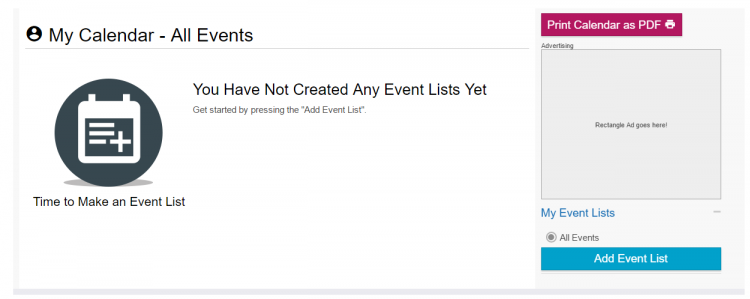 Screenshot of how to add your event to our PDF calendar