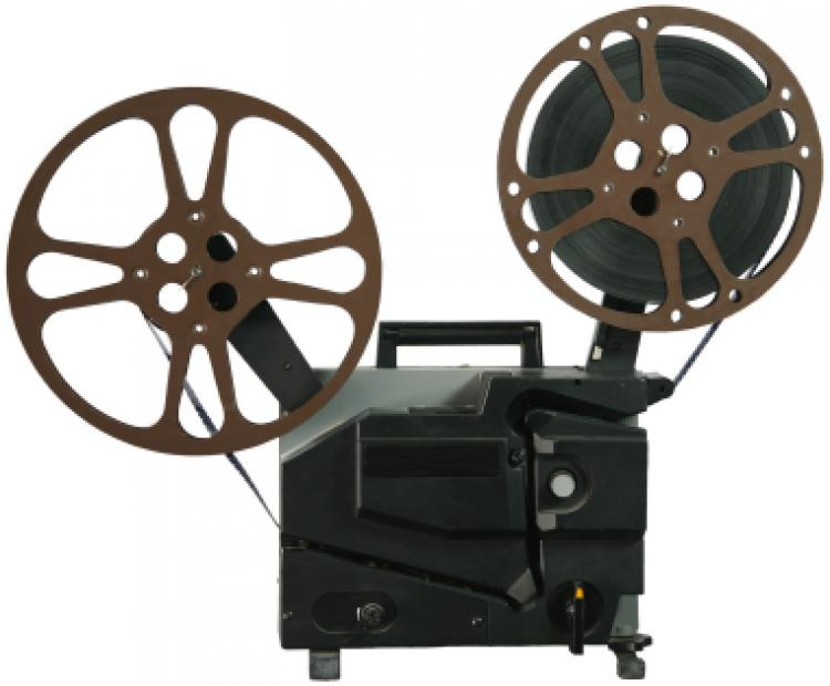 cutout of 16mm motion picture projector