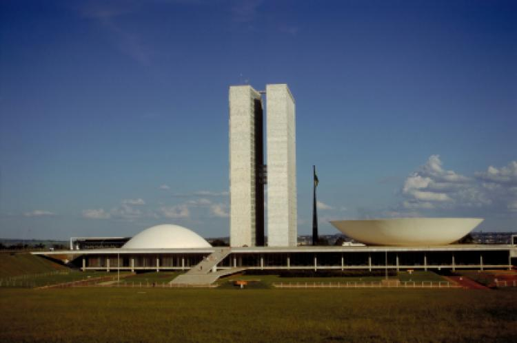 National Congress of Brazil building in Brasilia.