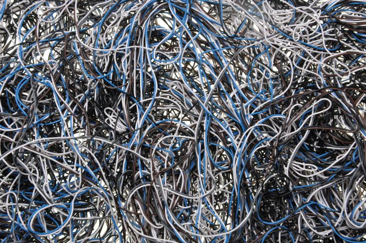 A chaos of wires.