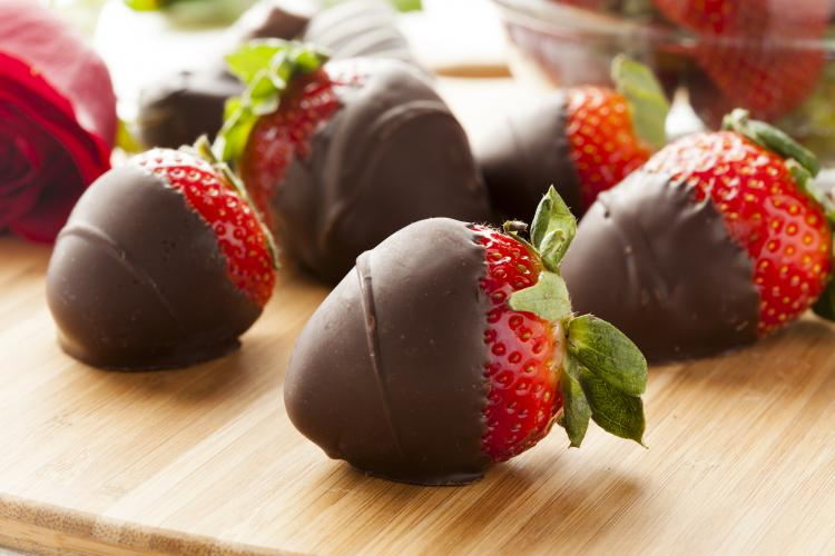 Chocolate covered strawberries.