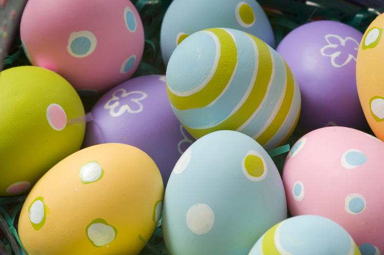 basket of Easter eggs. A basket of Easter eggs. ©iStockphoto.com ...