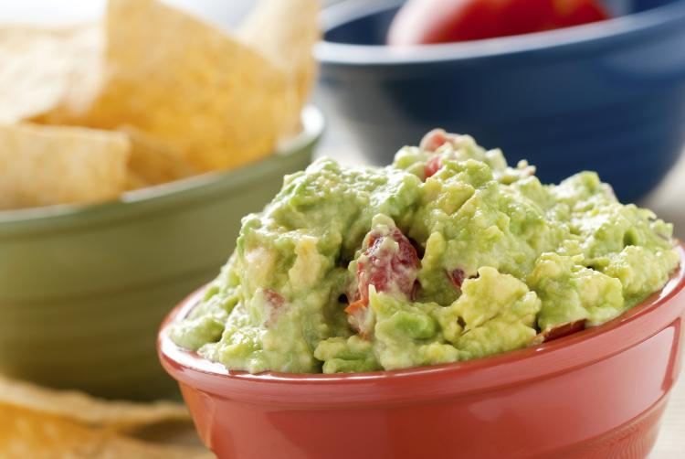 A big bowl of guacamole.