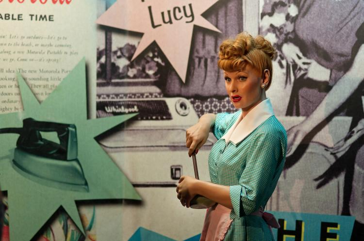 Actress Lucille Ball played the role of Lucy in I love Lucy.