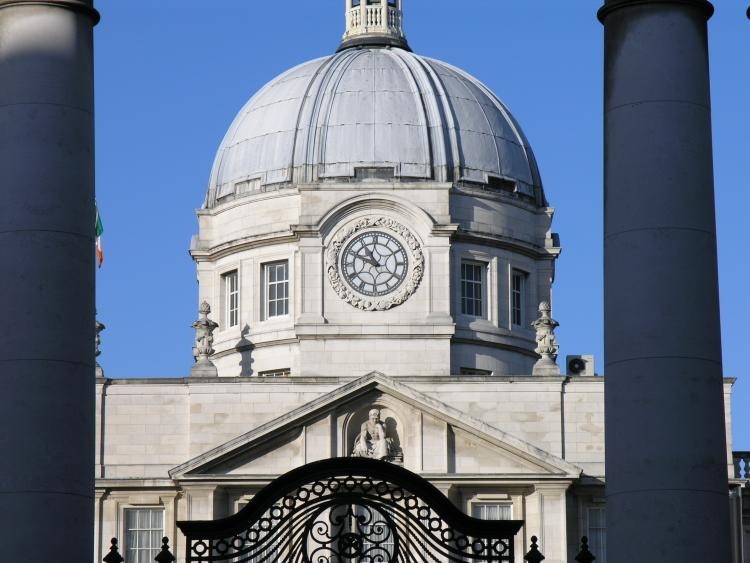 Front view of Department of the Taoiseach, Merrion Street, Dublin, Ireland