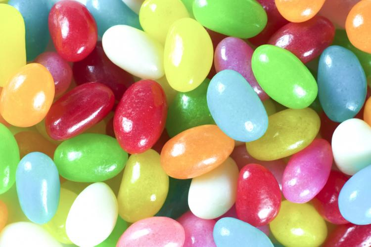 Close-up of colorful jelly beans.