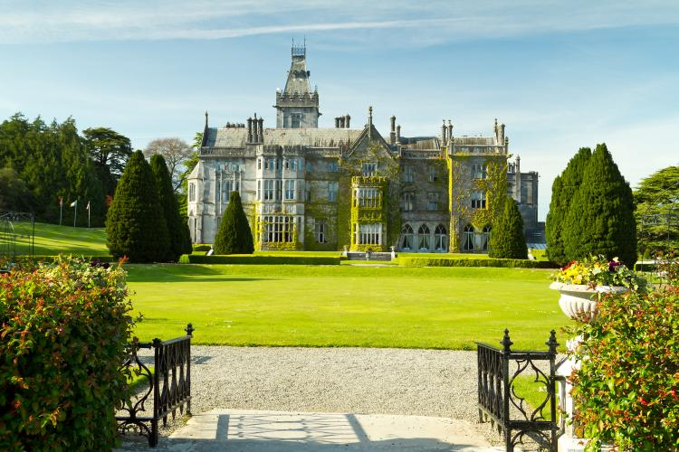 The Adare manor and gardens in Limerick, Ireland.