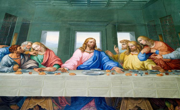 Stained Glass of the Last Supper