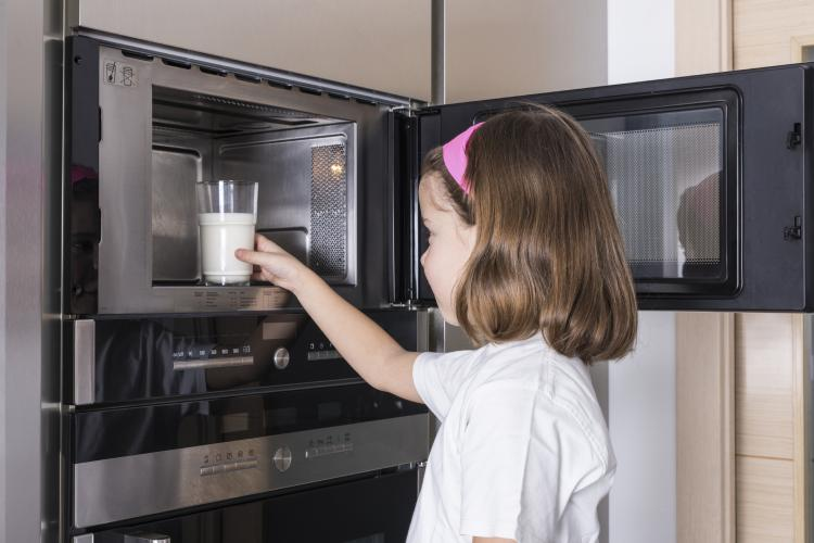 Even a child can use a microwave oven.