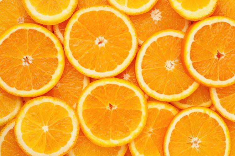 Slices of oranges.