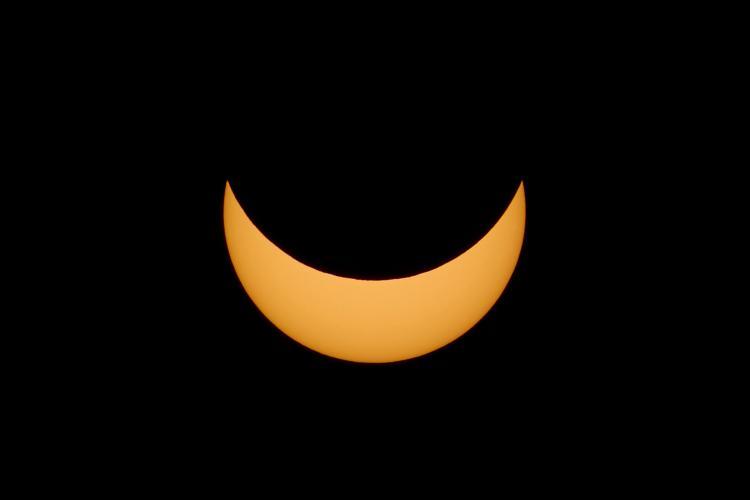 A partially eclipsed Sun