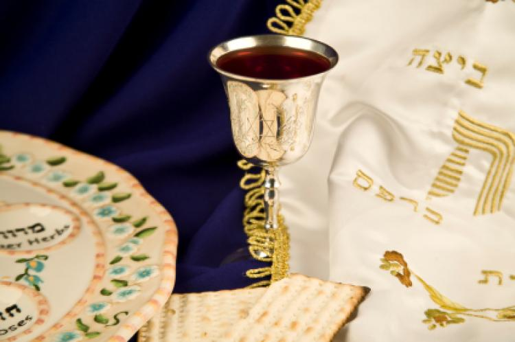 Typical items seen during Passover