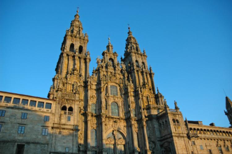 Santiago de Compostela Cathedral is situated in Santiago de Compostela in Galicia, Spain. The cathedral is the reputed burial-place of Saint James the Great, one of the apostles of Jesus Christ.