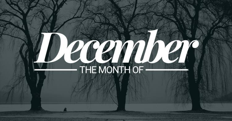 December – twelfth month of the year