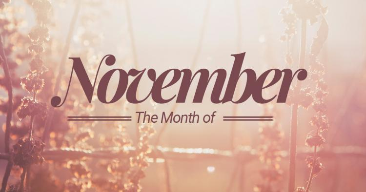 November – eleventh month of the year
