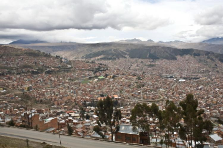 View of La Paz, Bolivia's administrative capital.
