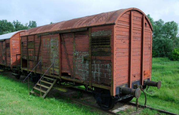 Railroad car used during the Holocaust