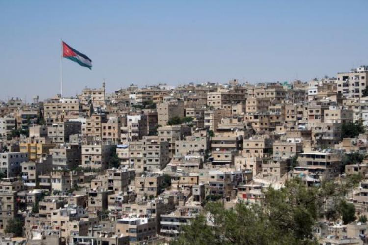 Jordan's capital, Amman, with the Raghadan Flagpole.