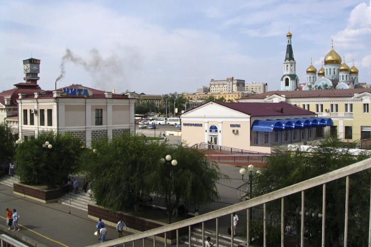 Railway station in the city Chita in Siberia, Russia.