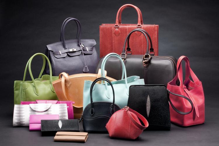Beautiful leather bags.