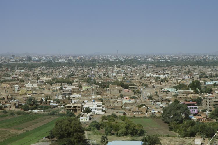 View of Tuti island in Khartoum, Sudan.