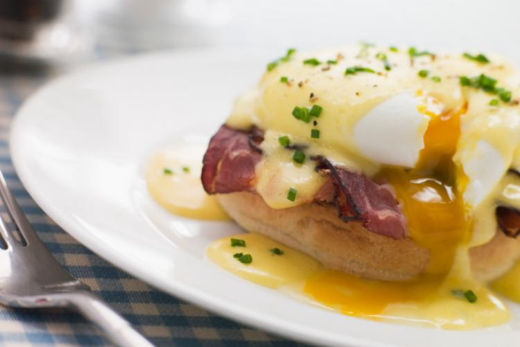 Plate of Eggs Benedict.