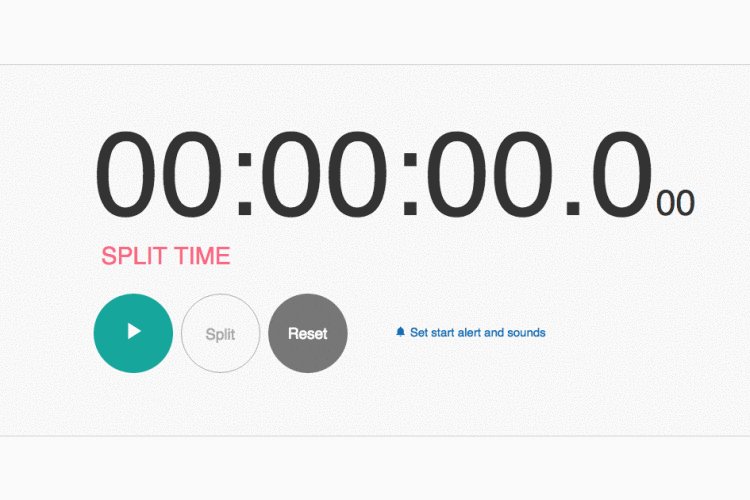 Online Stopwatch - How to Use it - Support