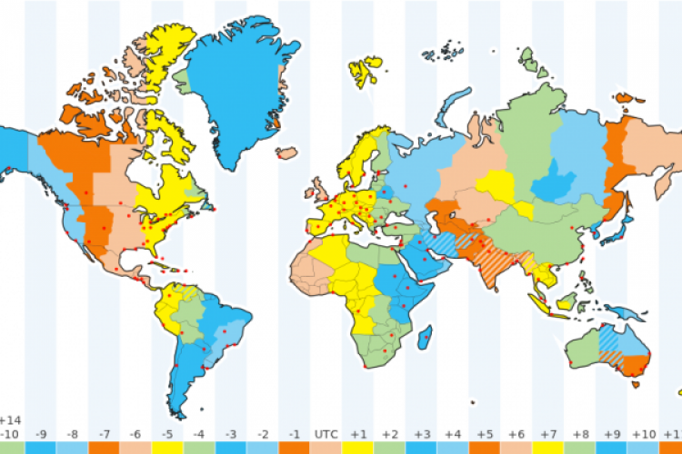 How Many Time Zones In The World: Active Us Time Zone Map At Usa Maps
