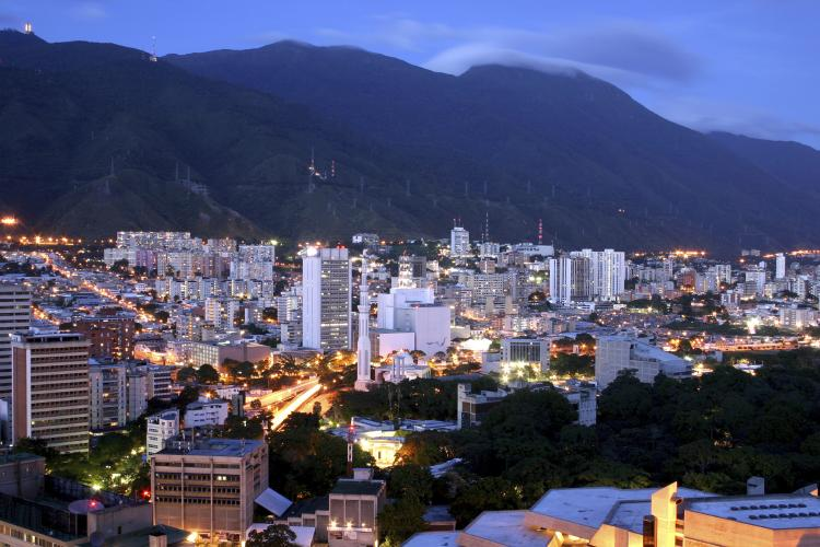 Caracas Cityscape at Twilight