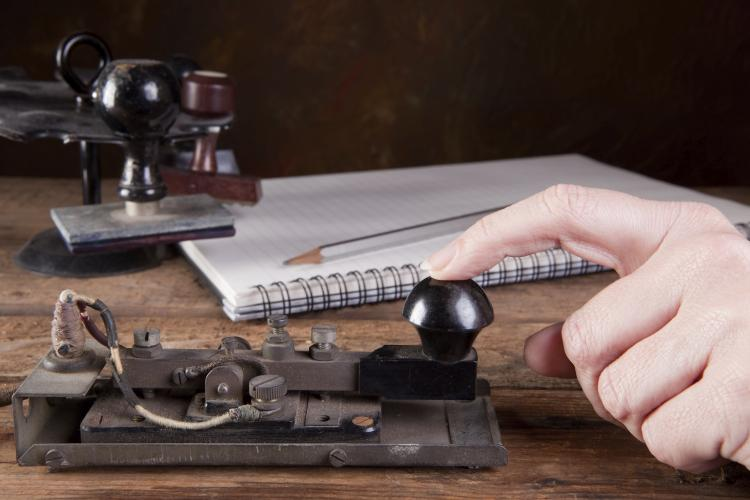 Telegraph for Morse code.
