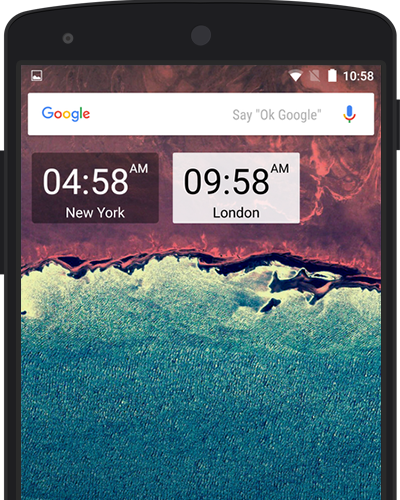 World clock app for android screenshot clocks displayed as widgets gumiabroncs