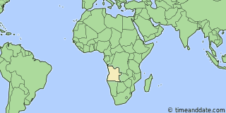 Location of Luanda