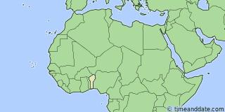 Current Local Time in Cotonou Benin