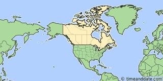 Location of Montréal