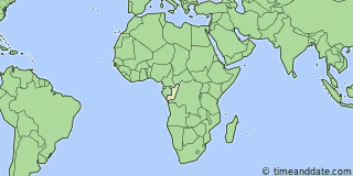 Location of Brazzaville