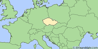 Location of Prague
