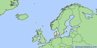 Location of Copenhagen
