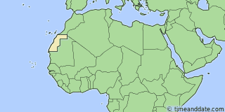 Location of Dakhla