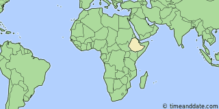 Location of Addis Ababa