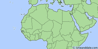 Location of Banjul