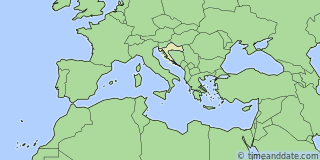 Location of Zagreb