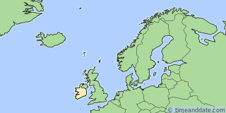 Location of Dublin