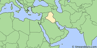 Location of Baghdad